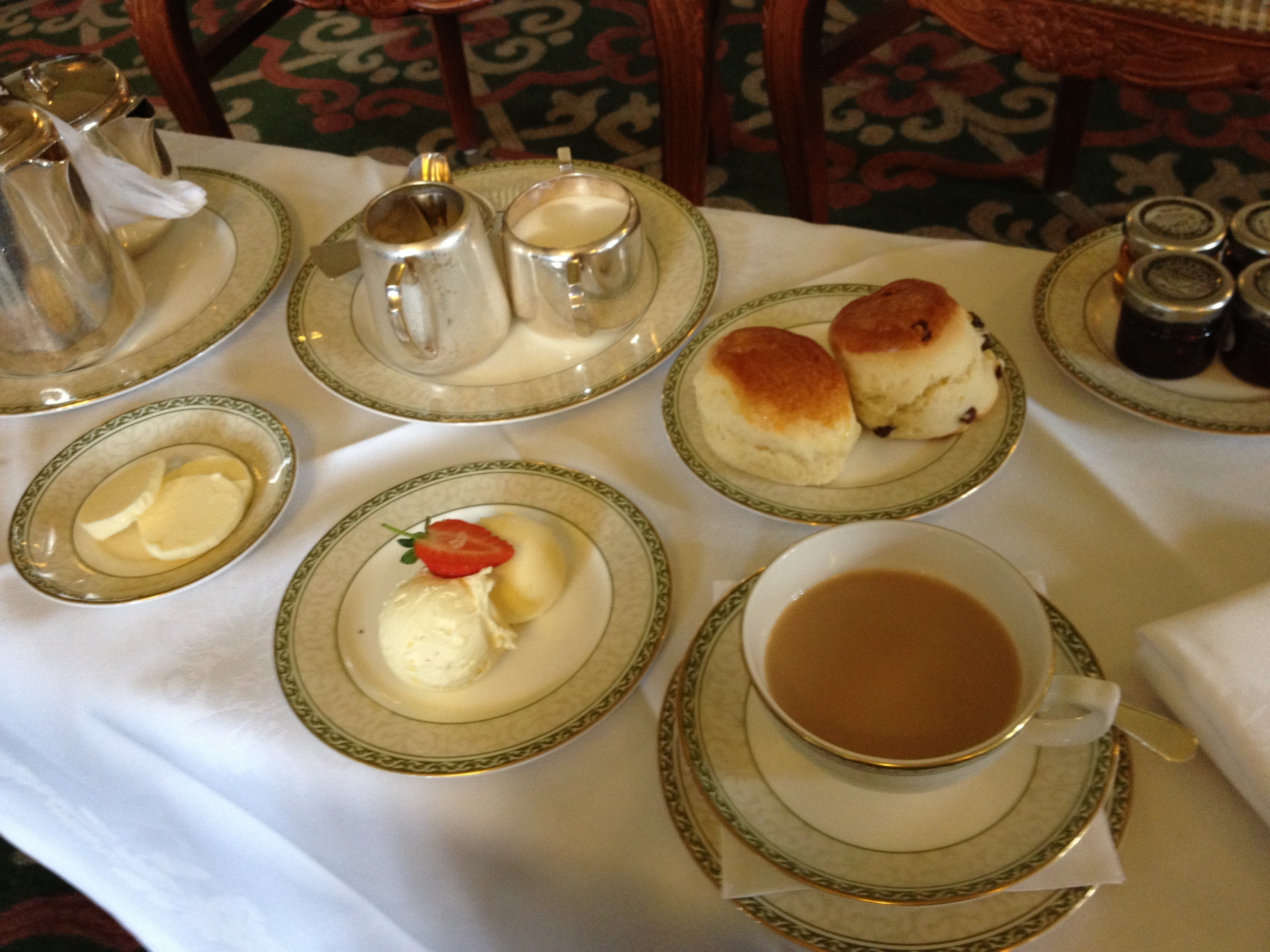 English Tea Time is what I look forward to when I return.